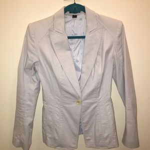 Express light blue fitted blazer, silky lining
